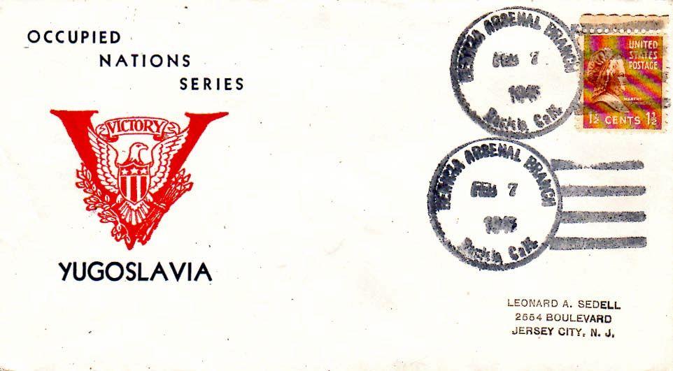 United States California Benicia Arsenal Branch 1945 4f-bar  1944-1946  1 1/2...